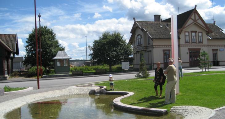 Vannspeil ved Kirkenær stasjon