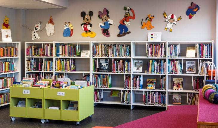 Barneavdelingen ved Grue folkebibliotek
