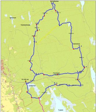 Kart over Gråhestenrunden