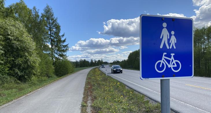 Gang- og sykkelvei fra Kirkenær til Grinder