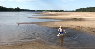 Flotte sandstrender langs Glomma. Her fra Kongshov