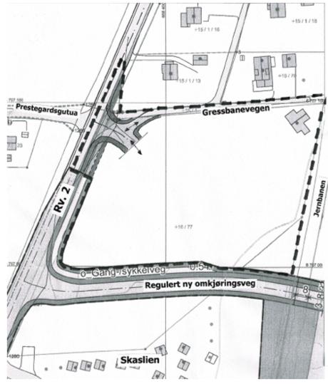 Kart over Kirkenær brannstasjon