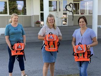 Lærere på 1. trinn: Ragnhild Weldingh, Lotte Lystadmoen og Kari Mette Skytteren. Steinar Lunde var ikke tilstede da bildet ble tatt