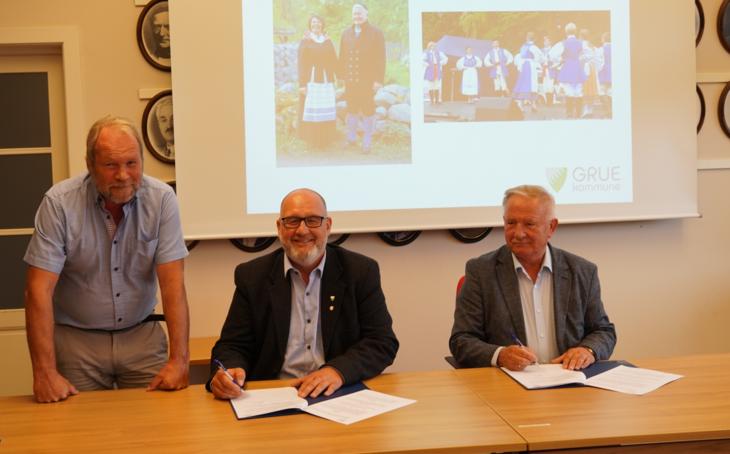 F.v. Dag Raaberg, Rune Grenberg og Tadeusz Puszkarczuk